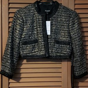 (NWT) Bebe - Tweed Crop Jacket